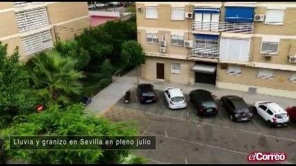 Granizo en el mes de julio en Sevilla