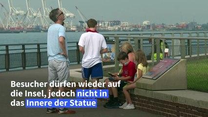 Freiheitsstatue wieder für Besucher geöffnet – von außen