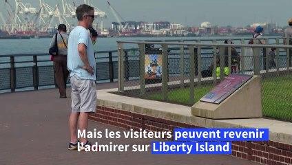 New York: la statue de la Liberté rouvre partiellement au public