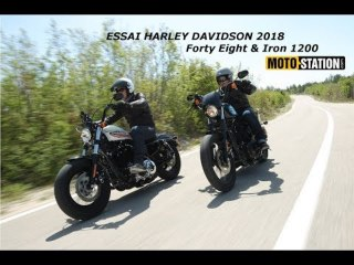 Essai Harley Davidson 2018 : Forty Eight & Iron 1200