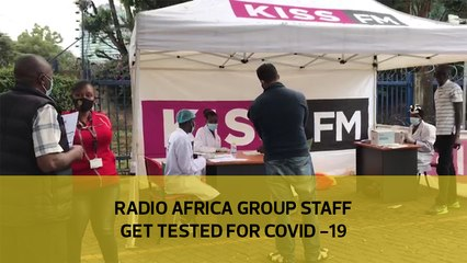 Radio Africa group staff get tested for Covid-19
