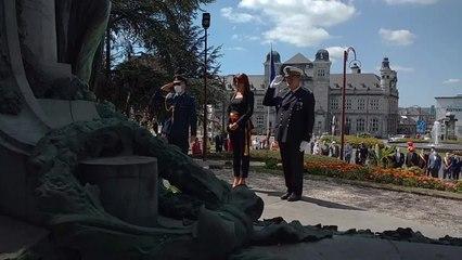 La cérémonie du 21 juillet au monument de la place de la victoire à Verviers