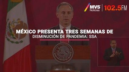 México presenta tres semanas de disminución de pandemia: SSa