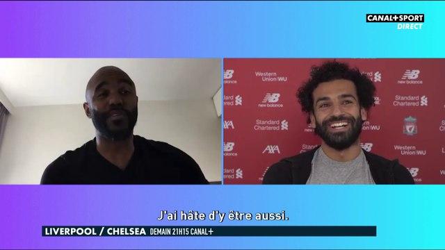 Mo Salah parle du titre avec Florent Sinama-Pongolle
