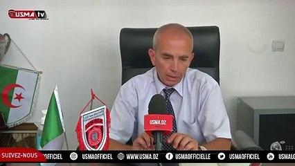 Le directeur général de l'USMA, Abdelghani Hadi s'est exprimé au sujet de l'affaire Ibara.