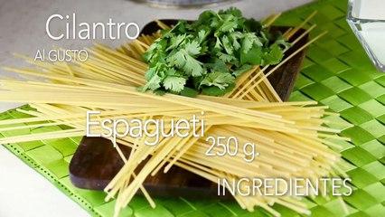 Prepara un rico y fácil- espagueti al cilantro te va a encantar!!! - Cocina con Alegría