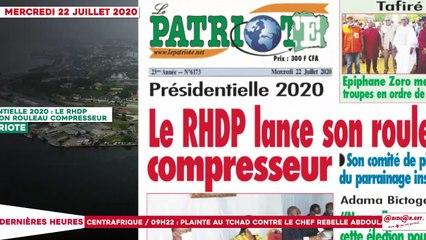Le Titrologue du 22 Juillet 2020 : Présidentielle 2020, le RHDP lance son rouleau compresseur