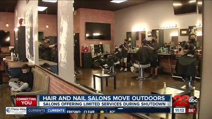 Hair and nail salons move outdoors