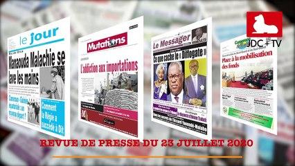 REVUE DE PRESSE CAMEROUNAISE DU 23 JUILLET 2020