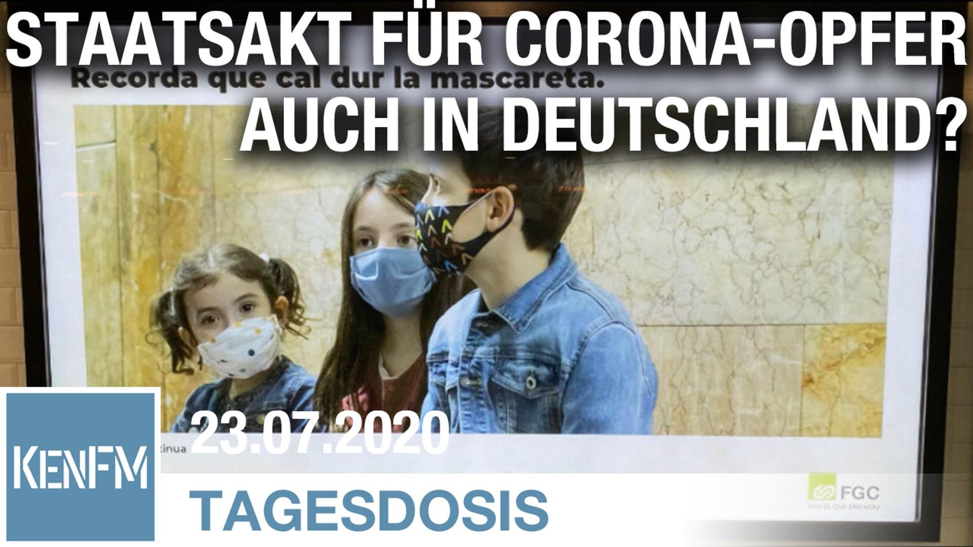 Kommt der Staatsakt für Corona-Opfer auch in Deutschland? | Von Bernhard Loyen