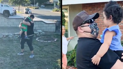 Couple Reunites With Children After Beating COVID-19