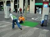Footballeur jongleur à barcelone - Las Ramblas