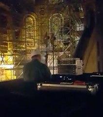 Ayasofya'da akustik ses denemesi