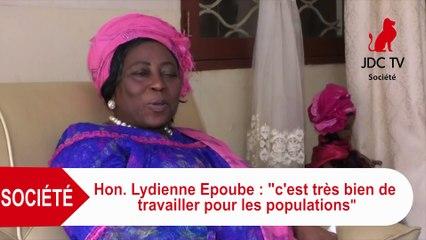 """Hon. LYDIENNE EPOUBE: """"J'encourage les femmes à travailler pour les populations"""""""
