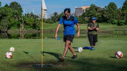 Leave the golf club at home and tee off with your feet for footgolf