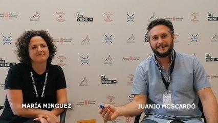 """Entrevista a JUANJO MOSCARDÓ Y MARÍA MÍNGUEZ, codirector y coguionista de la película española """"Amor en polvo"""""""