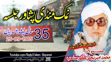 Molana Bijleegar Sahb Audio Bayan - Namak Mandi Peshwaar Jalsa مولانا محمد امیر بجلی گھر صاحب بیان