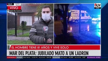 Mar del Plata: otro jubilado mato a un ladrón cuando quisieron robarle