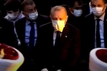 Erdoğan'ın Ayasofya'daki namaz öncesi ilk görüntüleri