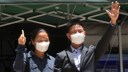 Hong Kong court clears couple on rioting charges, but convicts them for having unlicensed radio