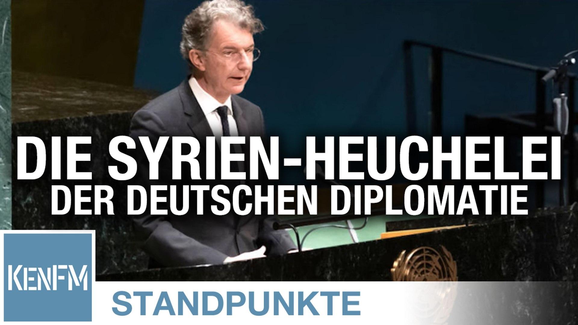 Die Syrien-Heuchelei der deutschen Diplomatie | Von Peter Frey