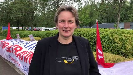 Kate Osborne joins British Airways protesters