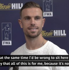 'Award is for the team' - Henderson on FWA honour