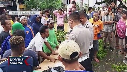 Kota Sorong Kembali Banjir, Warga Palang Jalan