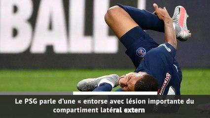 Coupe de France : Finale - Entorse de la cheville pour Mbappé !