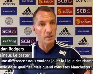 """38e j. - Rodgers : """"Nous voulons la Ligue des champions, United en a besoin"""""""