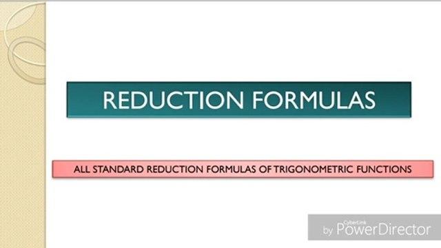 Reduction Formulas -- Standard Forms of Trigonometric functions  -- Presentation    Open Mathematics   
