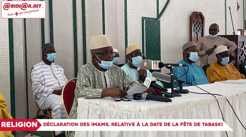 Déclaration des Imams, relative à la date de la fête de Tabaski