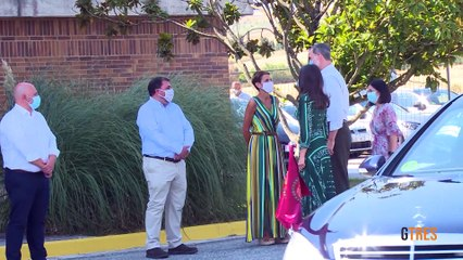 Doña Letizia recupera el vestido verde que prestó a Sonsoles Ónega