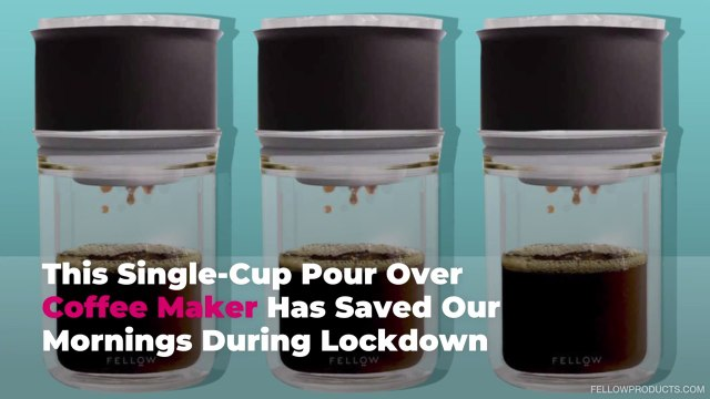 This Single-Cup Pour Over Coffee Maker Has Saved Our Mornings During Lockdown