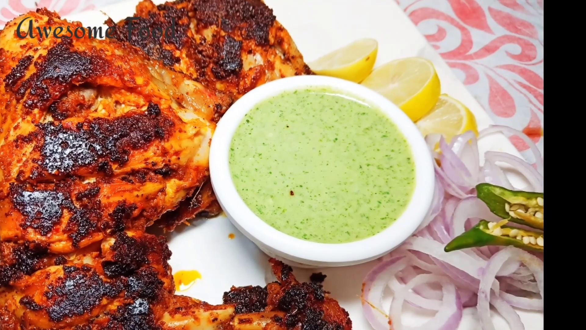 How to make Roasted chicken  Chicken Tandoori    Dry Roasted Chicken Masala