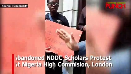 Abandoned NDDC Scholars Protest At Nigeria High Commission, London | Punch