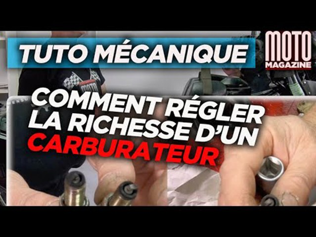 Comment regler la richesse de son carburateur -Tuto Moto Magazine