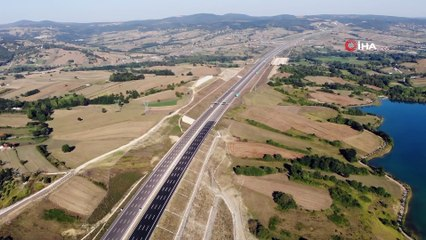 Kuzey Marmara Otoyolu'nun Trafiğe Açılan Kısmını Sürücüler Kullanmaya Başladı