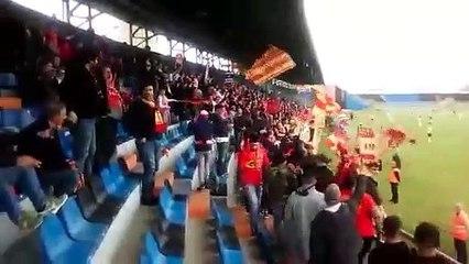 Acr Messina-Matelica: le immagini dei tifosi peloritani a Latina per la finale di Coppa Italia