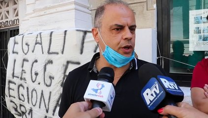 Reggio Calabria, protesta del Coolap contro l'Asp: le parole di Enzo Barbaro
