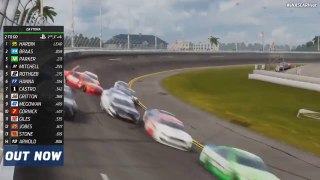 The 'Big One' strikes at virtual Daytona