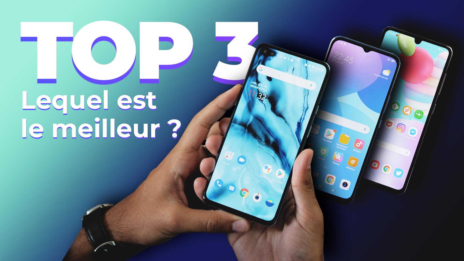 Les 3 MEILLEURS smartphones sur Frandroid ! (Août 2020)