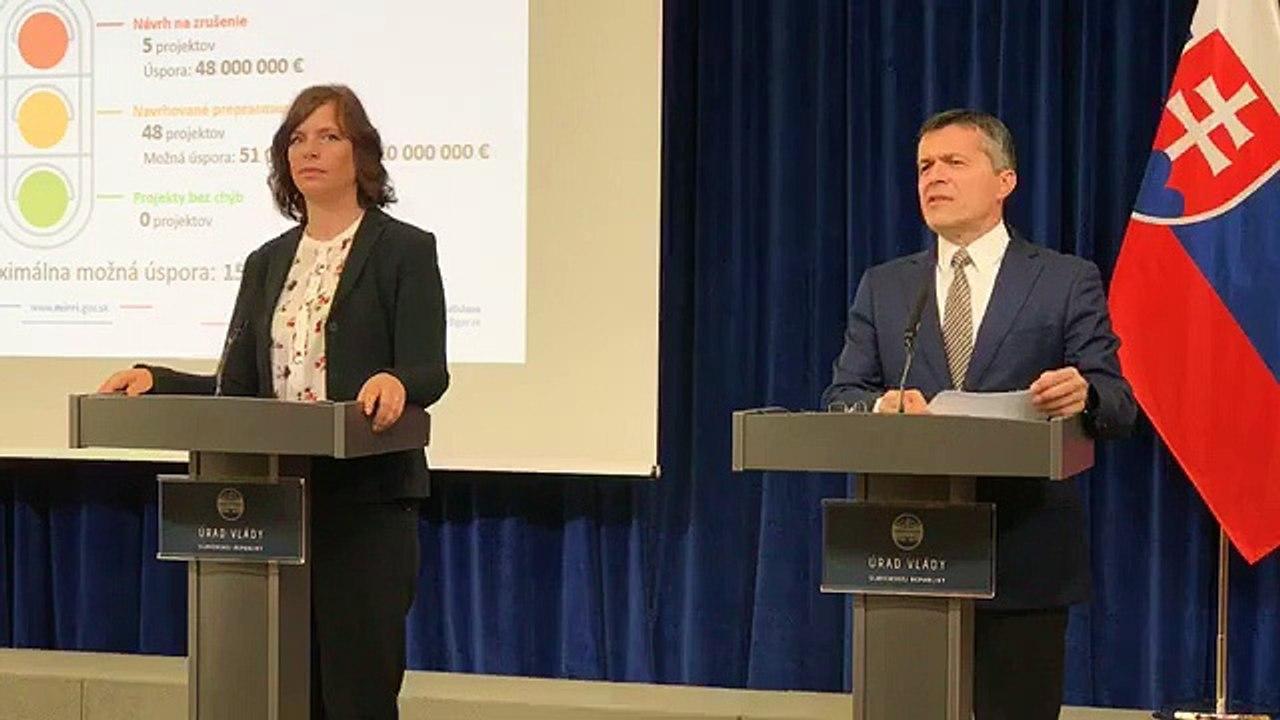ZÁZNAM: TK ministerky investícií Veroniky Remišovej