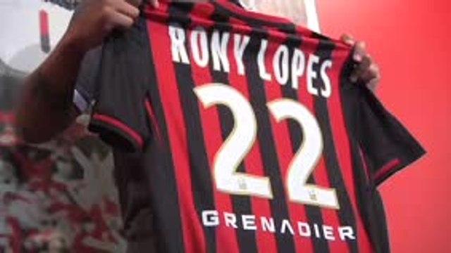 Nice - Rony Lopes, la nouvelle recrue présentée