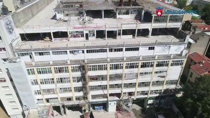 Site du futur lycée : déconstruction de l'ex Cité industrielle