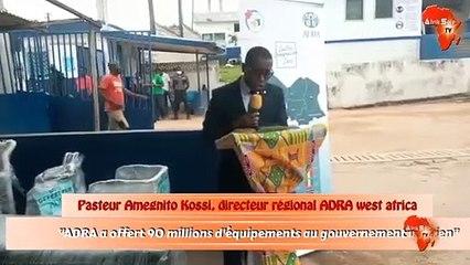 ADRA a offert 90 millions d'équipements au gouvernement ivoirien
