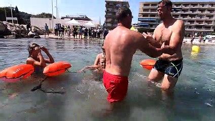La ministre des Sports et Alain Bernard alertent contre les risques de noyade à Antibes