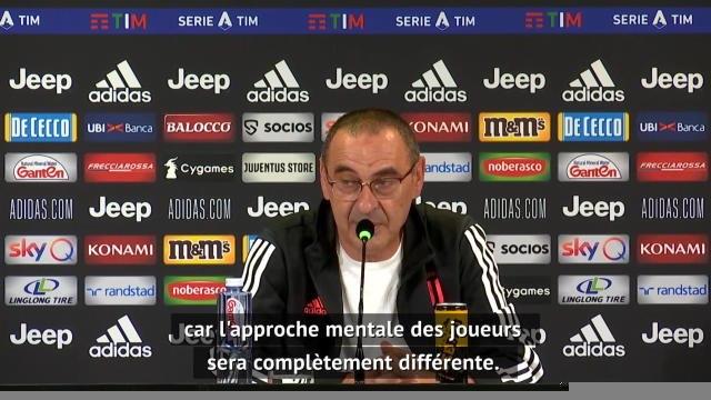 """38e j. - Sarri : """"Pas la même approche mentale contre la Roma et contre Lyon"""""""