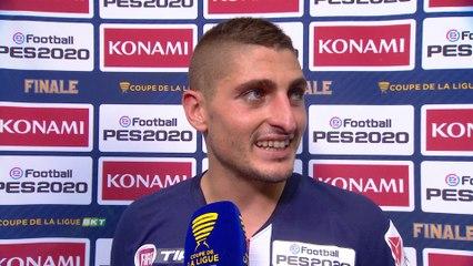 Interview de fin de match de Paris Saint-Germain - Olympique Lyonnais - Finale Coupe de la Ligue BKT 2020