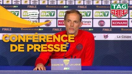 Conférence de presse Paris Saint-Germain - Olympique Lyonnais - Finale Coupe de la Ligue BKT 2020